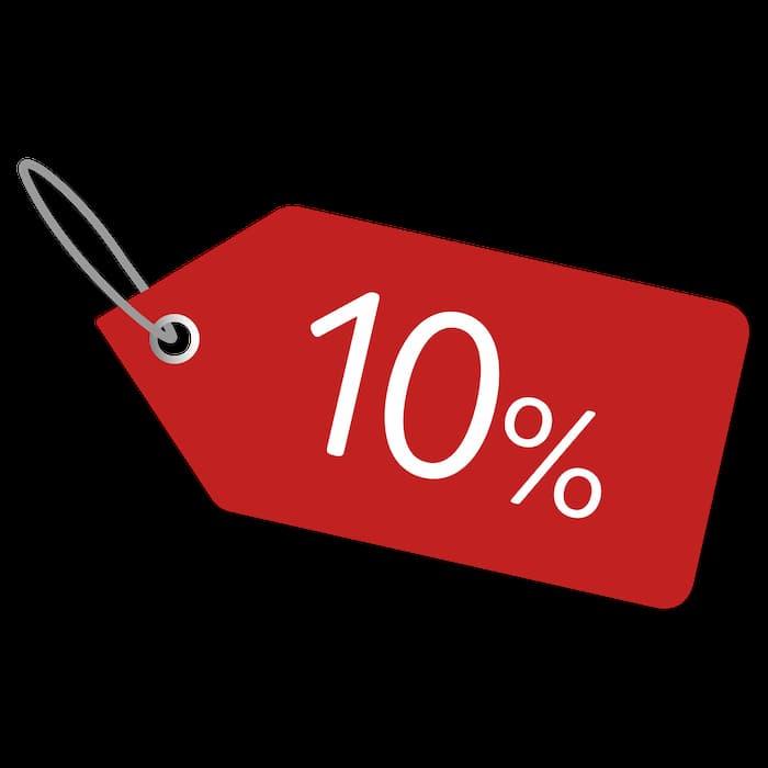 -10% offer!