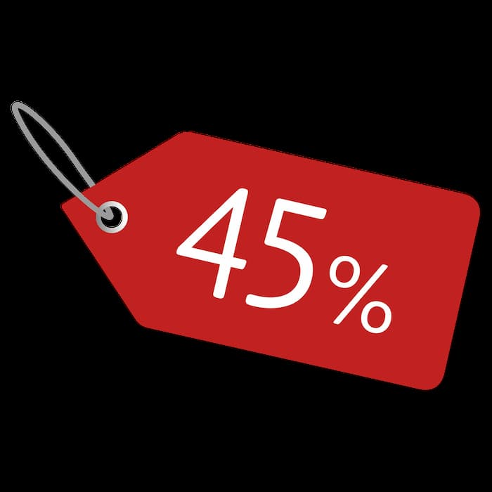 -45% offer!