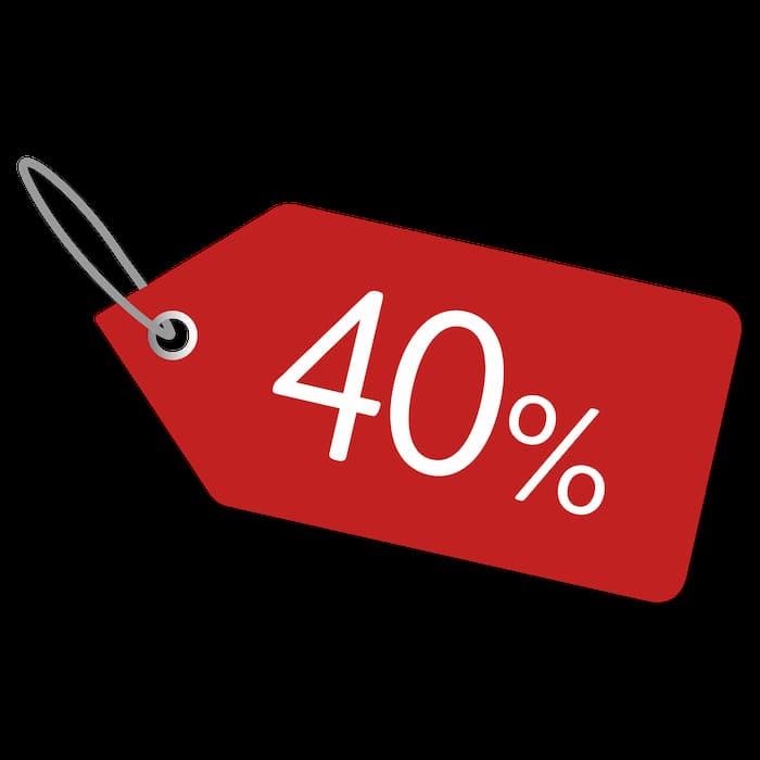 Offer -40%!