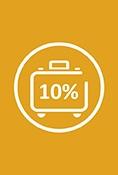 Disfruta de un 10% de descuento en tu reserva