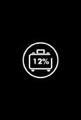 Desfrute de 12% de desconto na sua reserva