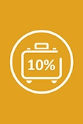 Enjoy a 10% discount on your booking