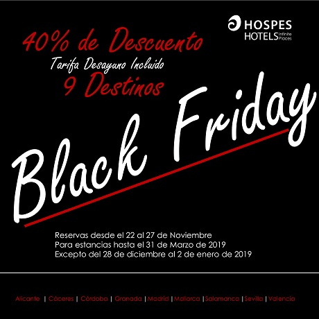 Black Friday Hospes Hoteles