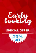 EARLY BOOKING 20% NON-REFUNDABLE